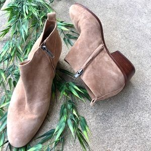 J. Crew Sawyer Suede Boots With Zipper